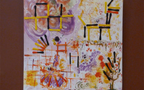 peinture-mauve-jaune-abstraite