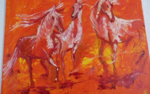 tableau chevaux